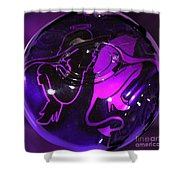 Good Girl Bad Girl Shower Curtain by Tom Gari Gallery-Three-Photography