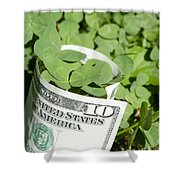 Good Luck And Money Shower Curtain