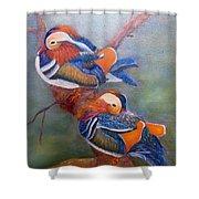 Good Luck Mandarins Shower Curtain