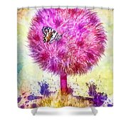 Good Luck Tree Shower Curtain