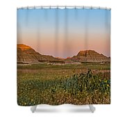 Good Morning Badlands II Shower Curtain