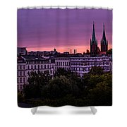 Good Morning Berlin Shower Curtain
