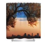 Good Morning Denver Shower Curtain by Darren  White
