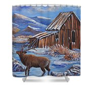 Good Morning Elk Shower Curtain