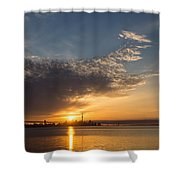 Good Morning Toronto With A Glorious Sunrise Shower Curtain
