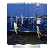 Good Night Venice Shower Curtain