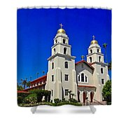 Good Shepherd Catholic Church Shower Curtain