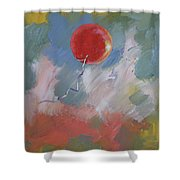 Goodbye Red Balloon Shower Curtain by Michael Creese
