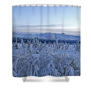 Goodnight Chugach Shower Curtain