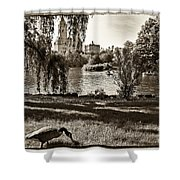 Goose In Central Park Nyc Shower Curtain