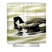 Goose Reflecting In The Water Shower Curtain