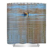 Goose Ripples Shower Curtain