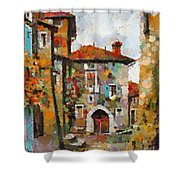 Gordes- Colorful Street Shower Curtain