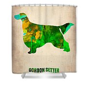 Gordon Setter Poster 2 Shower Curtain by Naxart Studio