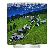 Goreljek Shepherding Village In Alpine Shower Curtain
