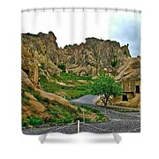 Goreme Open Air Musuem With Six Early Christian Churches In Capp Shower Curtain