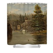 Gorge Of The St Croix Shower Curtain by Henry Lewis