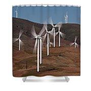 Gorge Windmills Shower Curtain
