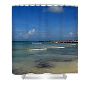Gorgeous Beach In Aruba Shower Curtain