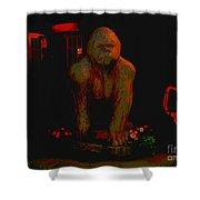 Gorilla Painted Shower Curtain