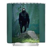 Gorilla Rock Shower Curtain