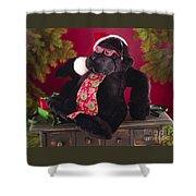 Gorilla With Shades-faa Shower Curtain