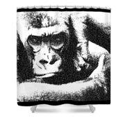 Gorilla Vogue Shower Curtain