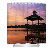 Gorton Pond Sunset Warwick Rhode Island Shower Curtain