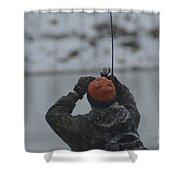 Gotcha   Steelhead Fishing Shower Curtain