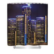 Gotham Detroit Shower Curtain by Nicholas  Grunas