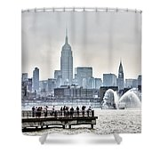 Gotham Harbor Shower Curtain