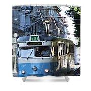 Gothenburg Tram 01 Shower Curtain