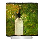 Gothic Autumn Shower Curtain