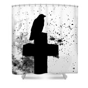Gothic Black And White Shower Curtain