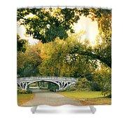 Gothic Bridge In Central Park Shower Curtain