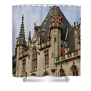 Gothic Bruges Shower Curtain