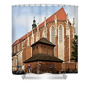 Gothic Church Of St. Catherine In Krakow Shower Curtain