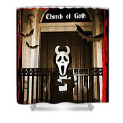 Gothic Church Sentinel Shower Curtain