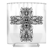 Gothic Cross Shower Curtain