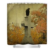 Gothic Fall Crow Shower Curtain