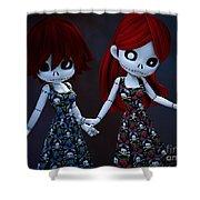 Gothic Rag Dolls Shower Curtain
