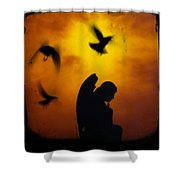 Gothic Silhouette Shower Curtain