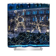 Gothic Snowflakes Shower Curtain