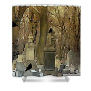 Gothic Splash Shower Curtain