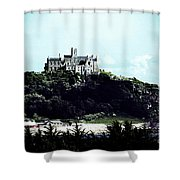 Gothic St Michael's Mount Cornwall Shower Curtain