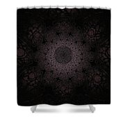 Gothic Stained Glass - Black Shower Curtain