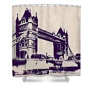 Gothic Victorian Tower Bridge - London Shower Curtain
