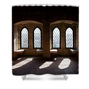 Gothic Windows Of The Royal Residence In The Leiria Castle Shower Curtain