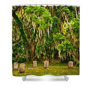 Gould's Cemetery Shower Curtain
