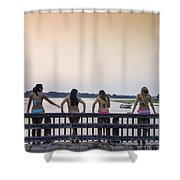 Goulds Creek Girls Shower Curtain